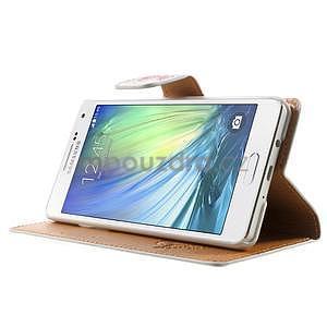 Peňaženkové zapínací puzdro na Samsung Galaxy A5 - růže elegant - 3