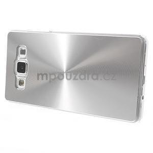 Strieborný metalický kryt na Samsung Galaxy A5 - 3