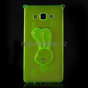 Zelený gélový obal s nastavitelným stojánkem na Samsung Galaxy A5 - 3
