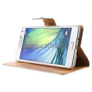 Peňaženkové zapínací puzdro na Samsung Galaxy A5 - farebné květiny - 3