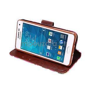 Květinové peňaženkové puzdro na Samsung Galaxy A5 - rose - 3