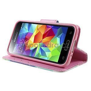Zapínací peňaženkové puzdro pre Samsung Galaxy S5 mini - snívanie - 3