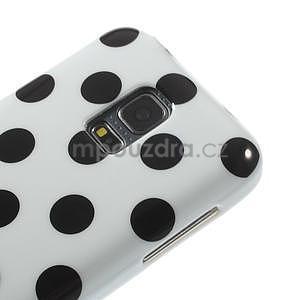Biely puntíkatý gélový obal pre Samsung Galaxy S5 mini - 3