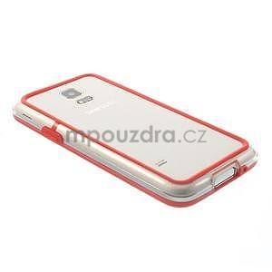 Červený gelový kryt s plastovými lemy na Samsung Galaxy S5 mini - 3