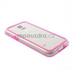 Rose gélový kryt s plastovými lemy pre Samsung Galaxy S5 mini - 3