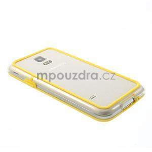 Žltý gélový kryt s plastovými lemy pre Samsung Galaxy S5 mini - 3