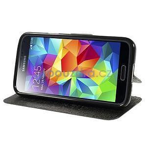 Černé zapínací pouzdro na Samsung Galaxy S5 mini - 3