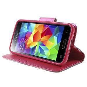 Zapínací peňaženkové puzdro pre Samsung Galaxy S5 mini - oko - 3