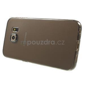 Ultra tenký gélový obal na Samsung Galaxy S6 Edge - šedý - 3