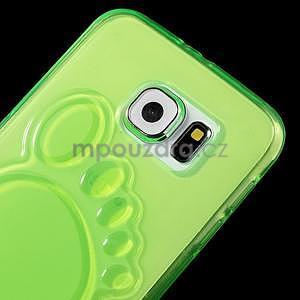 Protiskluzový gélový kryt pre Samsung Galaxy S6 - zelený - 3