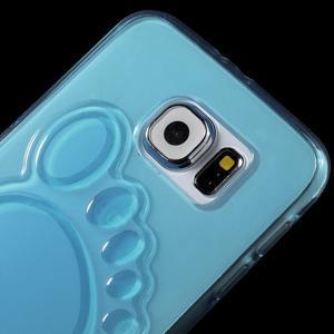 Protiskluzový gélový kryt pre Samsung Galaxy S6 - modrý - 3