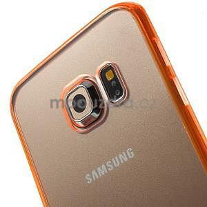 Oranžový hybridný gélový obal na Samsung Galaxy S6 Edge - 3