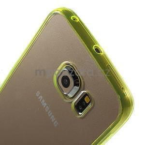 Světle žltý hybridný gélový obal na Samsung Galaxy S6 Edge - 3