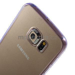 Fialový hybridný gélový obal na Samsung Galaxy S6 Edge - 3