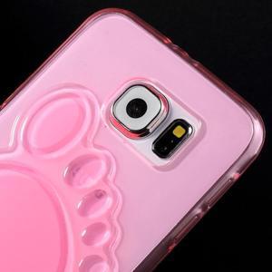 Protiskluzový gélový kryt na Samsung Galaxy S6 - rose - 3