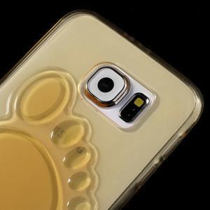 Protiskluzový gélový kryt pre Samsung Galaxy S6 - zlatý - 3