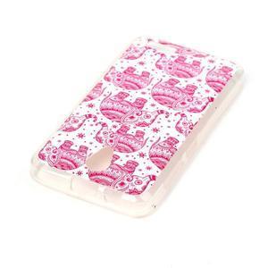 Softy gélový obal pre mobil Lenovo A319 - ružoví slony - 3