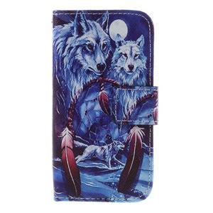Styles peňaženkové puzdro pre mobil Lenovo A319 - vlci - 3
