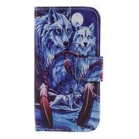 Styles peněženkové pouzdro na mobil Lenovo A319 - vlci - 3/6