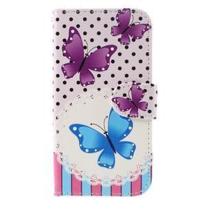 Styles peňaženkové puzdro pre mobil Lenovo A319 - motýľe - 3