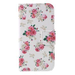 Styles peňaženkové puzdro pre mobil Lenovo A319 - kvetiny - 3