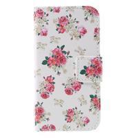 Styles peňaženkové puzdro pre mobil Lenovo A319 - kvetiny - 3/7