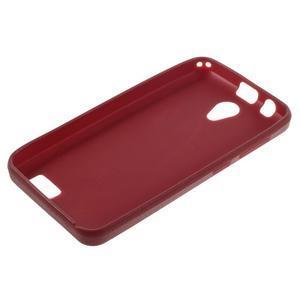 Vroubkovaný gélový obal pre mobil Lenovo A319 - červený - 3