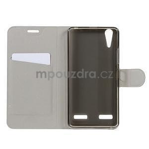 Peňaženkové PU kožené puzdro pre Lenovo A6000 - rose - 3