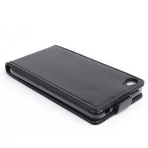 Flipové koženkové puzdro pre Lenovo S60 - čierné - 3