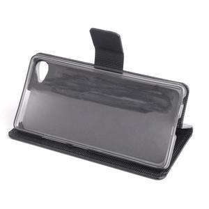 Peňaženkové PU kožené puzdro pre Lenovo S60 - čierné - 3