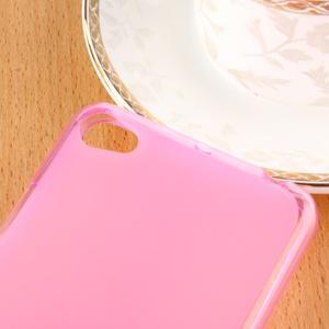Matný gélový obal pre mobil Lenovo S60 - ružový - 3