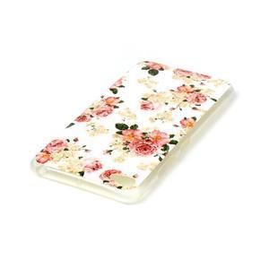 Glossy gélový obal pre mobil Lenovo S90 - kvetiny - 3