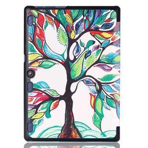 Polohovatelné pouzdro na tablet Lenovo Tab 2 A10-70 - malovaný strom - 3