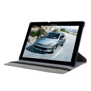 Puzdro s otočnou funkciou pre tablet Lenovo Tab 2 A10-70 - tmavomodré - 3
