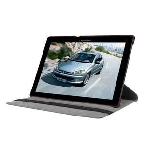 Puzdro s otočnou funkcí na tablet Lenovo Tab 2 A10-70 - tmavěhnědé - 3