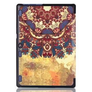 Polohovatelné puzdro pre tablet Lenovo Tab 2 A10-70 - vintage kvetiny - 3