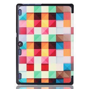 Polohovatelné puzdro pre tablet Lenovo Tab 2 A10-70 - farebné kostky - 3