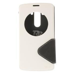 Diary puzdro s okienkom na mobil LG G3 - biele - 3