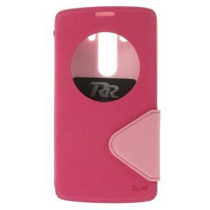 Diary puzdro s okienkom na mobil LG G3 - rose - 3
