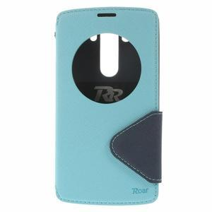 Diary puzdro s okienkom na mobil LG G3 - svetlomodré - 3