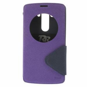 Diary pouzdro s okýnkem na mobil LG G3 - fialové - 3