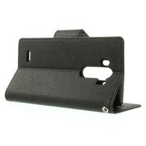 Goos peněženkové pouzdro na LG G3 - černé - 3