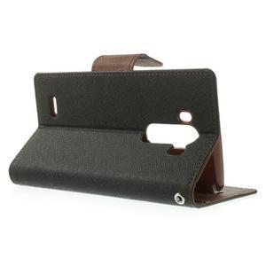 Goos peňaženkové puzdro pre LG G3 - čierne/hnedé - 3
