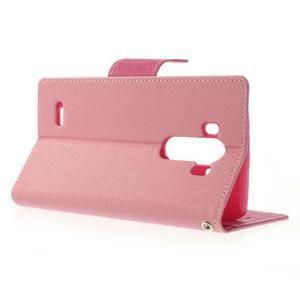 Goos peňaženkové puzdro pre LG G3 - ružové - 3