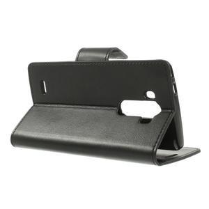 PU kožené pouzdro na mobil LG G3 - černé - 3