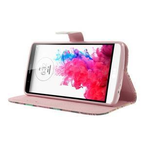Ultra motive peněženkové pouzdro na LG G3 - barevná srdíčka - 3