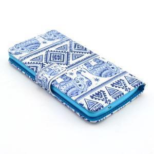 Obrázkové puzdro pre mobil LG G3 - modří sloni - 3