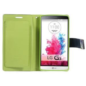 Luxusní PU kožené pouzdro na mobil LG G3 - tmavěmodré - 3