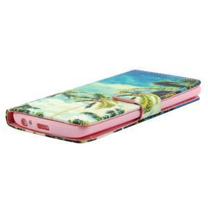 Obrázkové koženkové puzdro pre mobil LG G3 - palmy - 3