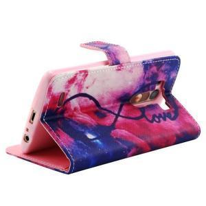 Obrázkové koženkové puzdro pre mobil LG G3 - nekonečná láska - 3